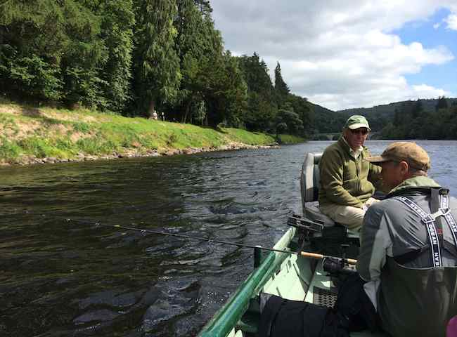 Boat Fishing For Salmon In Scotland